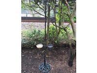 Garden wild birds feeder station