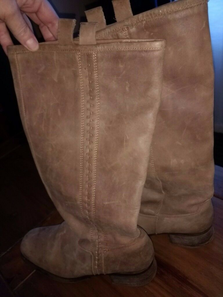 ff0a4b30c0c NEXT boots Size 7   Genuine Leather   Knee High   Tall Ladies Boots  Brown