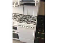 White flaval 50cm eye level gas cooker grill & oven good condition with guarantee