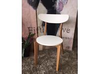 New Retro Designer Style Occasional Chair in White