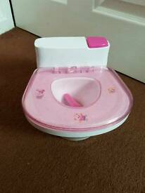 Childrens toy dolls toilet