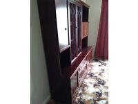 Sideboard unit dark wood