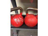 Pair of 32kg comp kettlebells