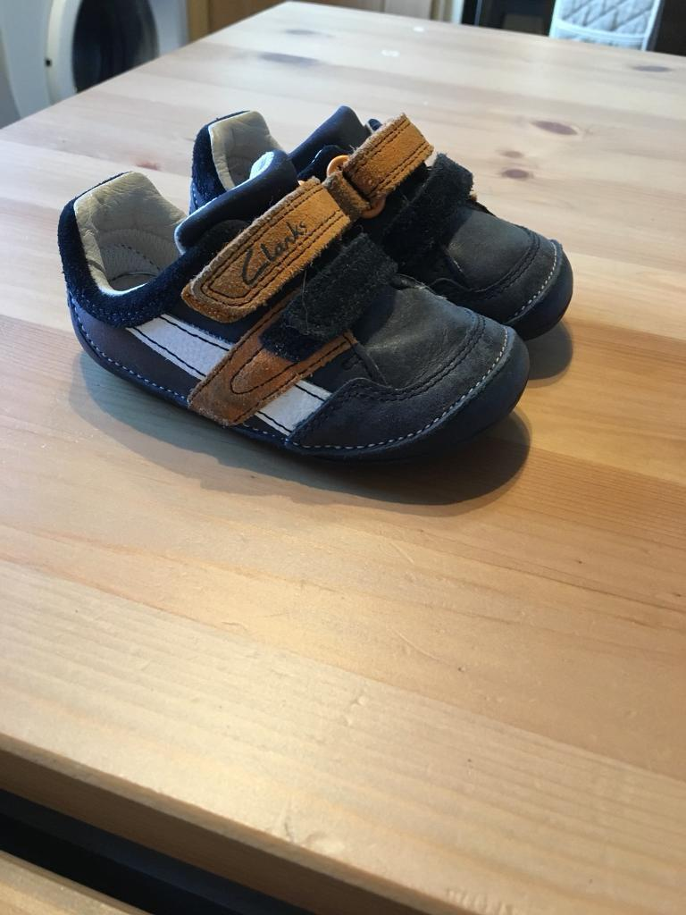 Clark's first walking shoes size 4f