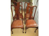 4 Walnut Antique Dining Chairs