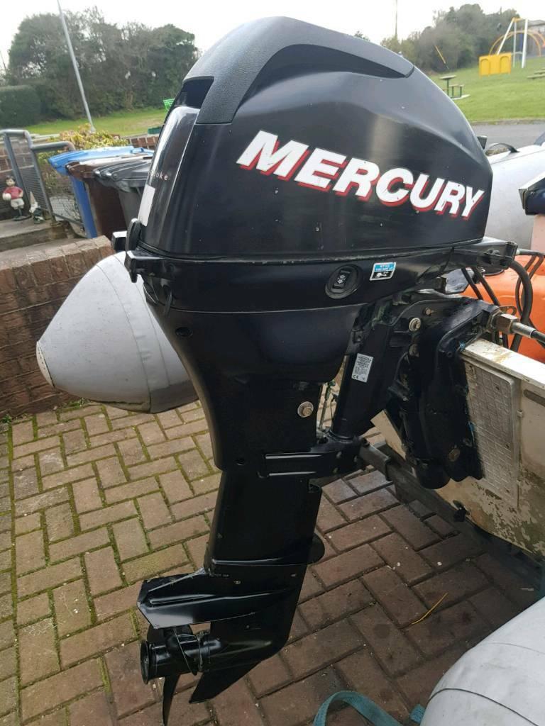 20hp 4 stroke 2010 mercury outboard boat engine power tilt | in Saintfield,  County Down | Gumtree
