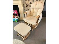 Reduced - Rocking Nursing Chair & Footstool