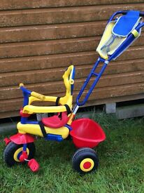 Child bike with push handle from age 2
