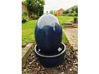 Blue Egg Shaped Water Feature in Bowl