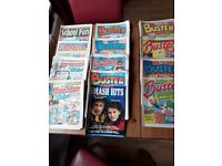 Large pile of comics from 1984 and 1985 - Buster, whizzer & Chips, Whoopee,School Fun etc