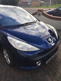 Peugeot 207 hatchback, 1.4 Petrol, Panoramic Roof, beautiful car for summer, low millage
