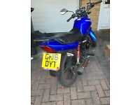 125 cc sinnis max2 motorbike 2016 plate broughtfor £1,400 as a present and hardly go on it anymore