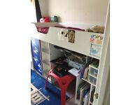 Child bed , purchased last year, hardly used, very good condition, good storage, sturdy,