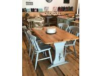 Pine Farmhouse Painted Table and Chairs £250