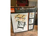 New B&Q Tilt and Rise Adjustable work Bench / Work Mate