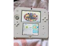 Nintendo 2ds white and red