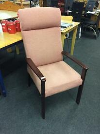 Hi back Parker knoll chair