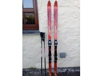 Blizzard 185cm Skis with Soloman bindings and poles