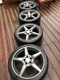 Professionally renewed rims never used and tyres pirelli zero with tread left for 1-2 sesons