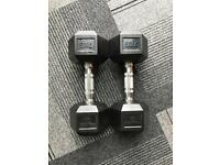 Set of 2x 7 kg dumbbells (used, great condition)