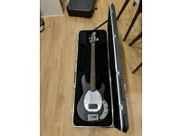 Music Man Sub Bass Guitar 4-string American 2-band active EQ with hard case for sale  London