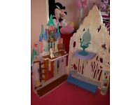 Frozen ice palace and castle playset