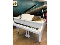 Whil Steinmann modern white Baby Grand Piano | Belfast Pianos | Free Delivery