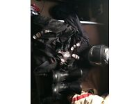 Motorbike Gear, jacket, padded trousers, helmet and boots