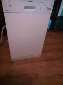 Slim line dishwasher swan