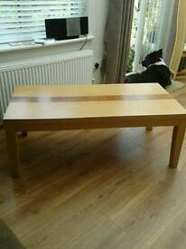 Wood effect coffee table - good condition
