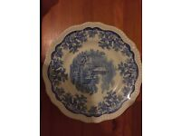 VINTAGE SPODE BLUE ROOM COLLECTION REGENCY SERIES RUINS COLLECTOR'S PLATE