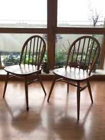 Pair of mid-century Ercol Windsor Dining Chairs