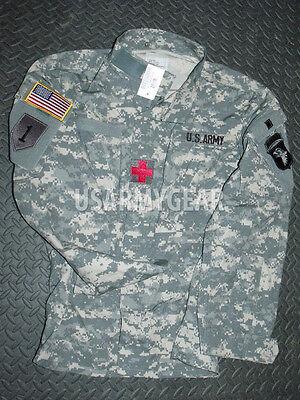 New US Army ACU Digital Military Combat Uniform Shirt Jacket Top Coat Large L /S Army Combat Uniform Coat
