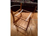 Mothercare moses basket wooden rocking stand