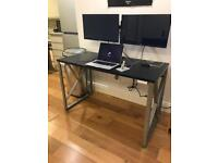 Modern graphite black computer desk