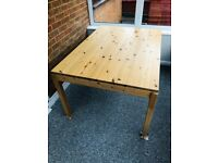 Lovely Quality Ikea Pine Dining Table, Lovely Wooden Kitchen Table 6 or 8 seater