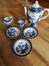 Vintage BOOTHS REAL OLD WILLOW pattern