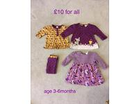 Baby girls clothes £10 for all