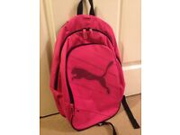 Pink puma backpack