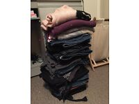 Bundle of 20-25 pairs of trousers size 18-22 and 4 jumpers