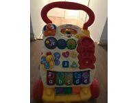 Baby toys bundle /walker, push car, tricycle and bouncy zebra. All come with batteries.