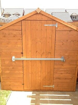 GARDEN SHED LOCK BAR, FACTORY / GARAGE/ OFFICE DOOR SECURITY - HEAVY DUTY STEEL