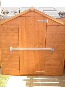 Garden shed lock bar factory garage office door for Garden shed security
