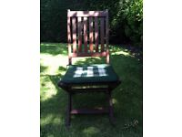 Solid wood 8 piece garden furniture.
