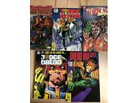 Vintage judge Dredd comic bundle