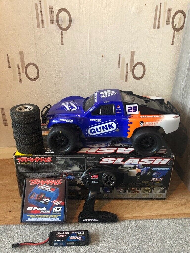 Traxxas slash 2wd upgraded wheels and battery | in Blacon, Cheshire |  Gumtree