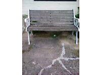 Bench Wrought Iron Garden Bench