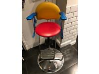 Vintage Kids barber hairdressing chair child's hairdressers seat
