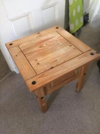 Two pine sidetables