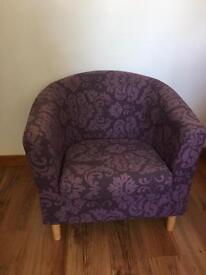 Purple Tub Chair